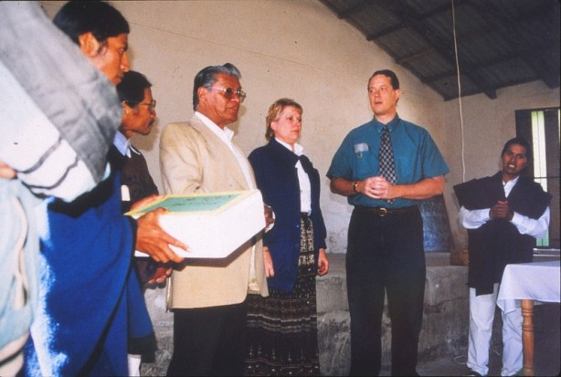 From left to right - Victor Vaca, Kathy Carson, Tim Carson, Segundo Morales