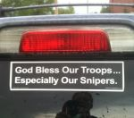 God bless our snipers